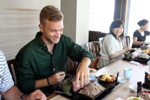 日本に来て初めての本格的な日本食